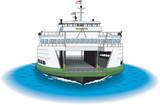 Ferry Vector Illustration