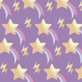 pattern shooting stars and thunderbolts