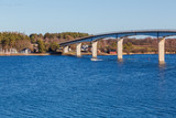 Bridge between mainland and island in the archipelago