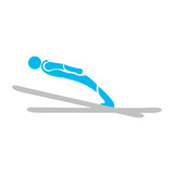 Isolated skiing people icon. Vector illustration design
