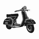 Scooter Vintage Illustration. Vector Eps 08.