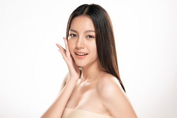Beautiful Young asian Woman with Clean Fresh Skin © kitthanes
