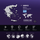 Greece map vector illustration.