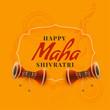 maha shivratri festival greeting design