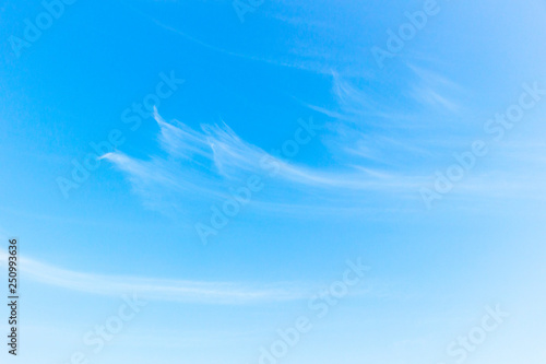 World Environment Day concept: white fluffy clouds in the blue sky