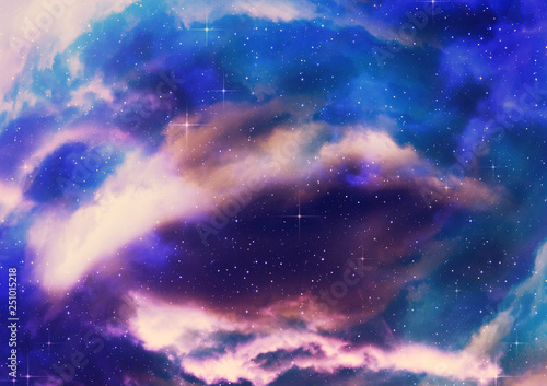 obraz lub plakat Starry nebula clouds