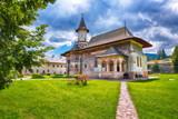 Splendid summer scene of Sucevita Monastery Romanian Orthodox monastery