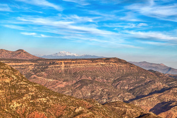A beautiful landscape in the mountains of Morocco near Agadir, an African country on the Atlantic Ocean