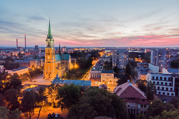 The city of Lodz, Poland