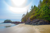 View of Long Beach in Tofino, a popular destination in Vancouver Island, Canada