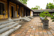 courtyard of imperial city citadel in Hue, Vietnam