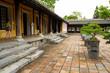 courtyard of imperial city citadel in Hue, Vietnam