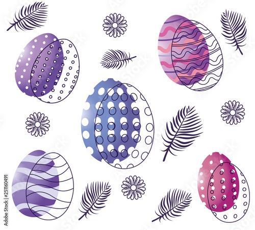 easter eggs cartoon - 251160491