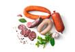 Leinwanddruck Bild - Assortment of german homemade sausage specialties