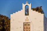 Small cyclades chapel near Naoussa port in Paros island, Greece