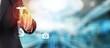 Leinwandbild Motiv Healthcare technology access accountability banner business care