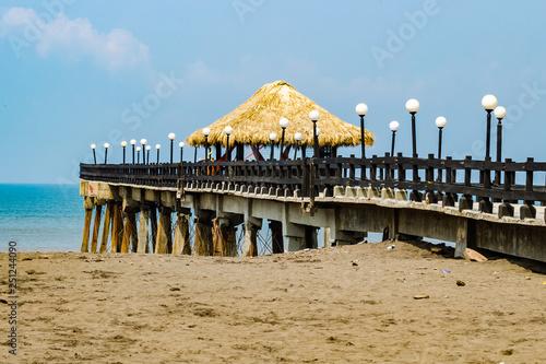 Scenic Pier in Costa Rica © ondreicka