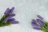 banner branches lavender for the holiday