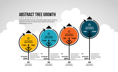 Abstract Tree Growth Infographic
