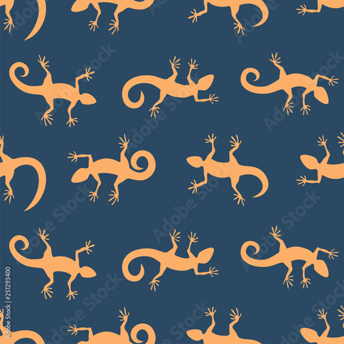 mata magnetyczna Seamless pattern background with lizards. Vector illustration.