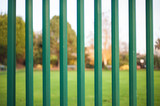 Fence with blur background