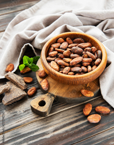 Cocoa beans and chocolate