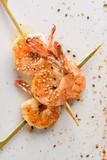 Close up on tiger shrimp