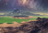 3D Rendered Fantasy Alien Landscape - 3D Illustration