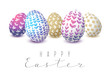 Easter eggs with floral ornate