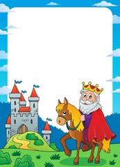 King on horse theme frame 1