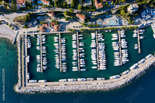 Leinwandbild Motiv Marina Icici, Croatia, aerial view