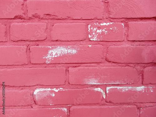 pink brick wall - 251362474