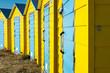 Leinwanddruck Bild - Beach Huts, Littlehampton,West Sussex, Uk,