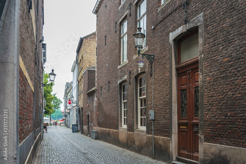 obraz PCV MAASTRICHT, THE NETHERLANDS - june 10, 2018: Street view of downtown in Maastricht, Netherlands.