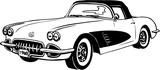1960 Corvette Vector Illustration