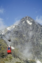 Lomnice shield and cable car. Slovakia. Europe © Milan