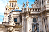 Part of ancient cathedral in Spain, Murcia. European architecture church.