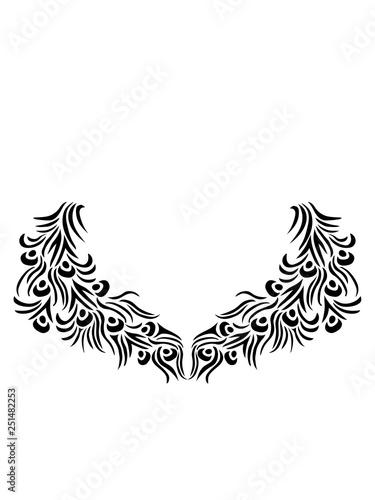 muster tattoo bunt dekorativ vogel pfau fasan federn groß männlich schön hübsch augen zoo wildtier comic cartoon clipart design - 251482253