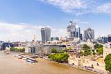Fototapeta Londyn - London downtown with River Thames © vichie81