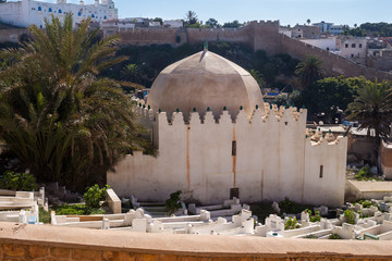 Muslim cemetery with a mosque, Safi, Morocco