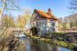 Leinwanddruck Bild - Wassermühle
