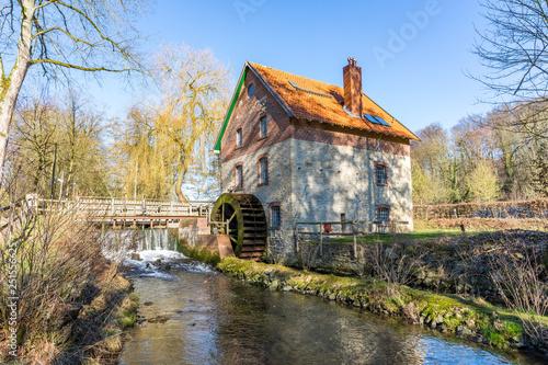 Leinwanddruck Bild Wassermühle