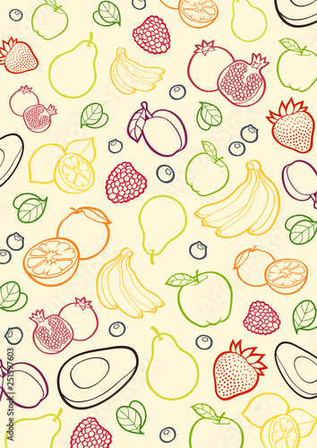 fruit_colored_pattern - 251597603