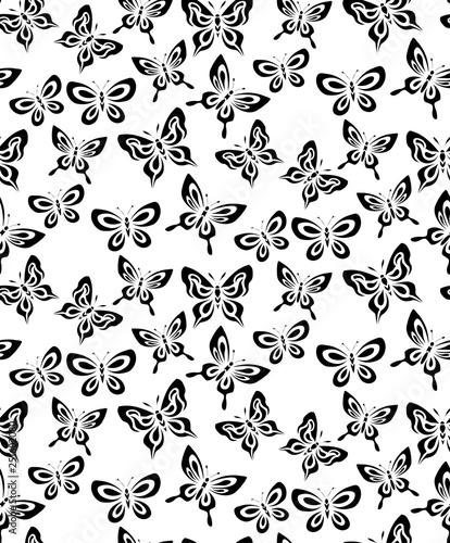 Decorative butterfly seamless pattern. - 251602080