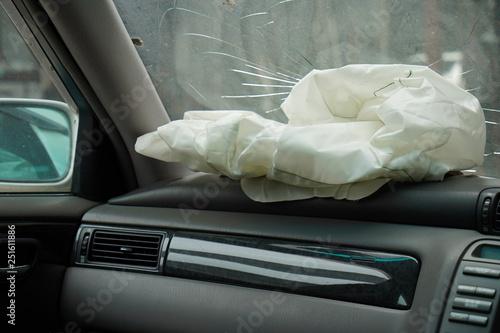 Crashed car's interior - 251611886
