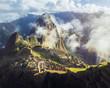 Machu Picchu Inca ruins with fog - Sacred Valley, Peru