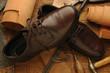 Leinwanddruck Bild - Calzatura Footwear Fußbekleidung ft9102_6806 Soulier  Känga Jalkine