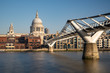 St Paul's Cathedral and Millennium Footbridge over the Thames