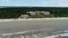 """Постер, картина, фотообои """"Resort on beach in South Carolina, Aerial"""""""