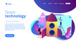 Space technology concept landing page.